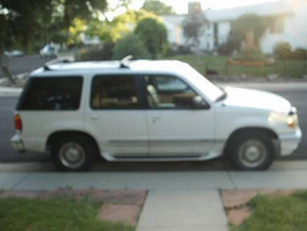 clean condition white  ford explorer limited  denver